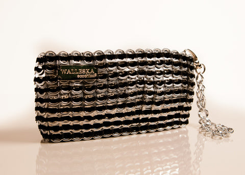 Recycled Pull Tab - A-CDLP 01 Opera Clutch handmade from aluminum pop top pull tabs