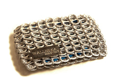 Upcycled Credit Card Wallet recycled from aluminum can tops handmade from aluminum pop top pull tabs
