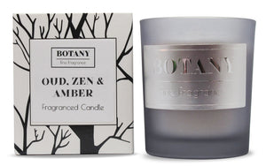 Oud, Zen & Amber Small Glass Candle