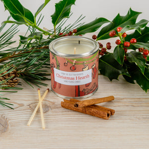 Christmas Hearth Large Paint Tin Candle