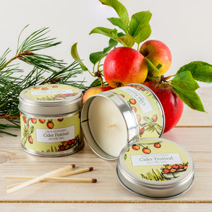 Cider Festival Lidded Tin Candle