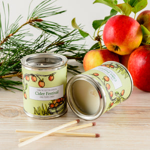Cider Festival Small Paint Tin Candle