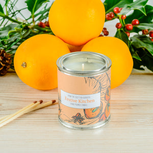 Festive Kitchen Small Paint Tin Candle