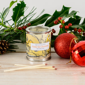 Home For Christmas Small Paint Tin Candle