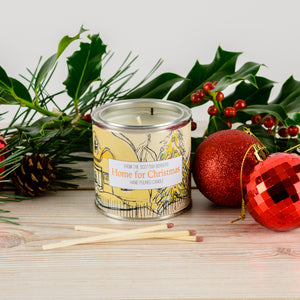 Home For Christmas Large Paint Tin Candle
