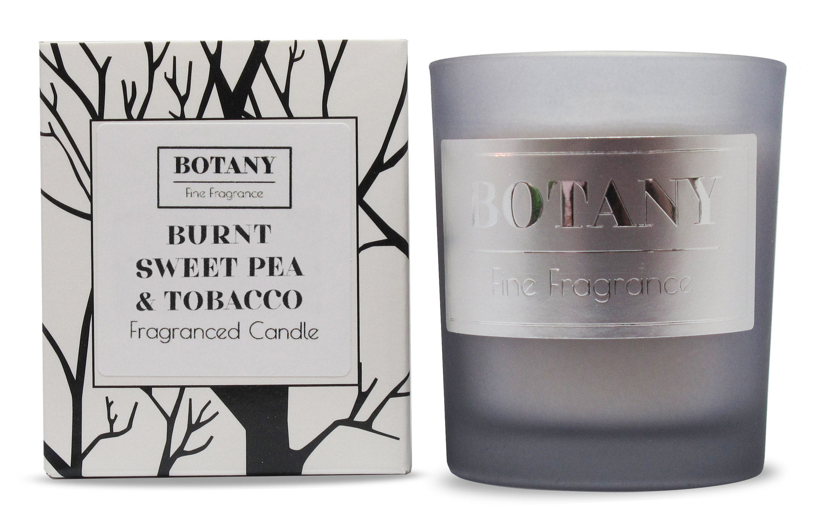 Burnt Sweet Pea and Tobacco Small Glass Candle
