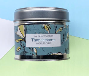 Thunderstorm Lidded Tin Candle