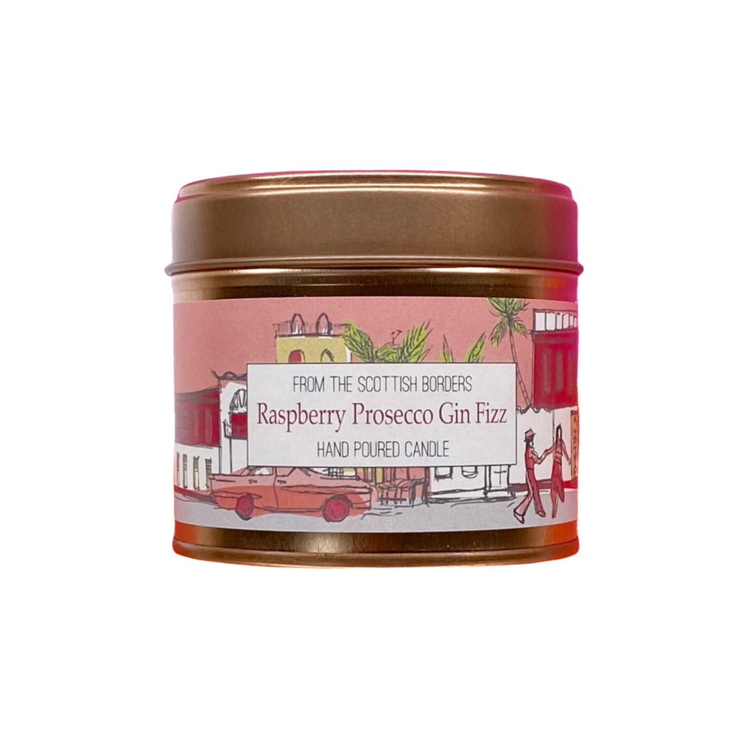 Raspberry Prosecco Gin Fizz Lidded Tin Candle (Rose Gold)