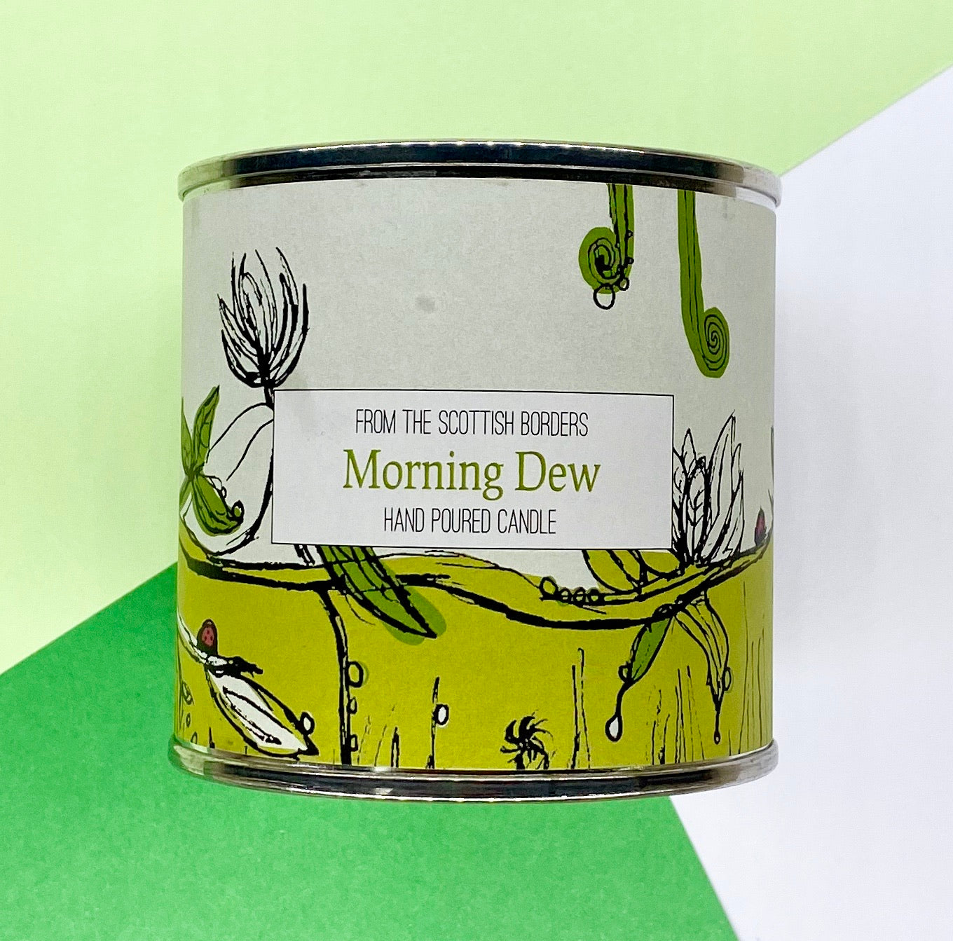 Morning Dew Large Paint Tin Candle