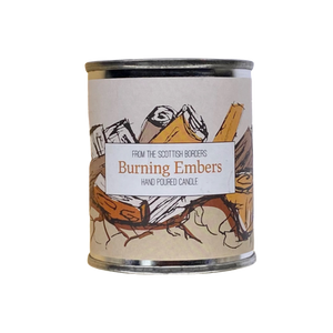 Burning Embers Small Paint Tin Candle