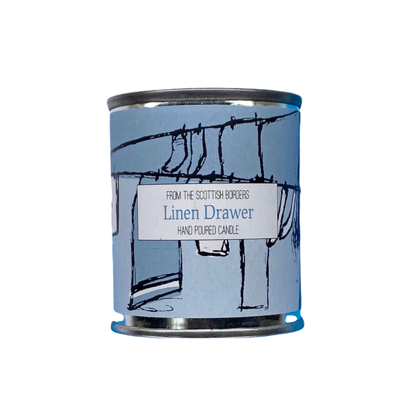 Linen Drawer Small Paint Tin Candle