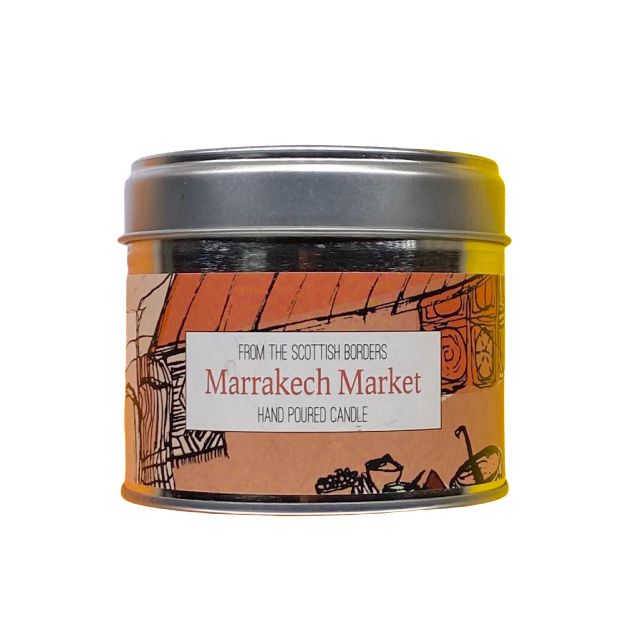 Marrakech Market Lidded Tin Candle