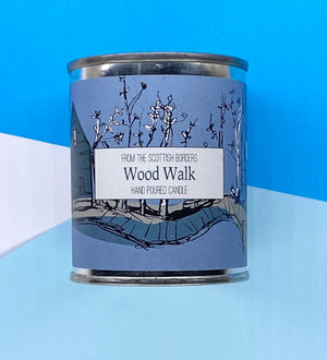 Wood Walk Small Paint Tin Candle