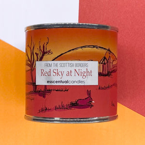 Red Sky At Night Large Paint Tin Candle