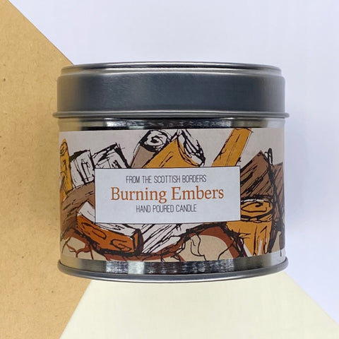 Burning Embers Lidded Tin Candle