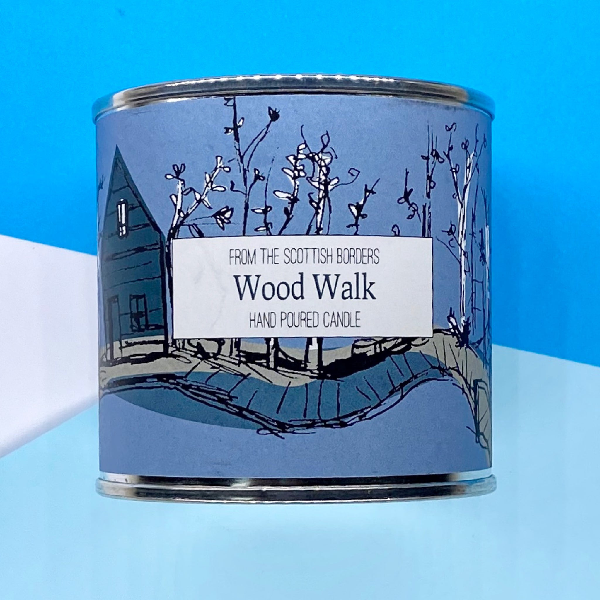 Wood Walk Large Paint Tin Candle