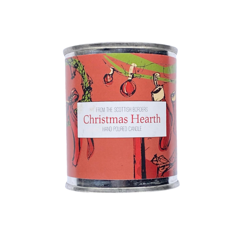 Christmas Hearth Small Paint Tin Candle
