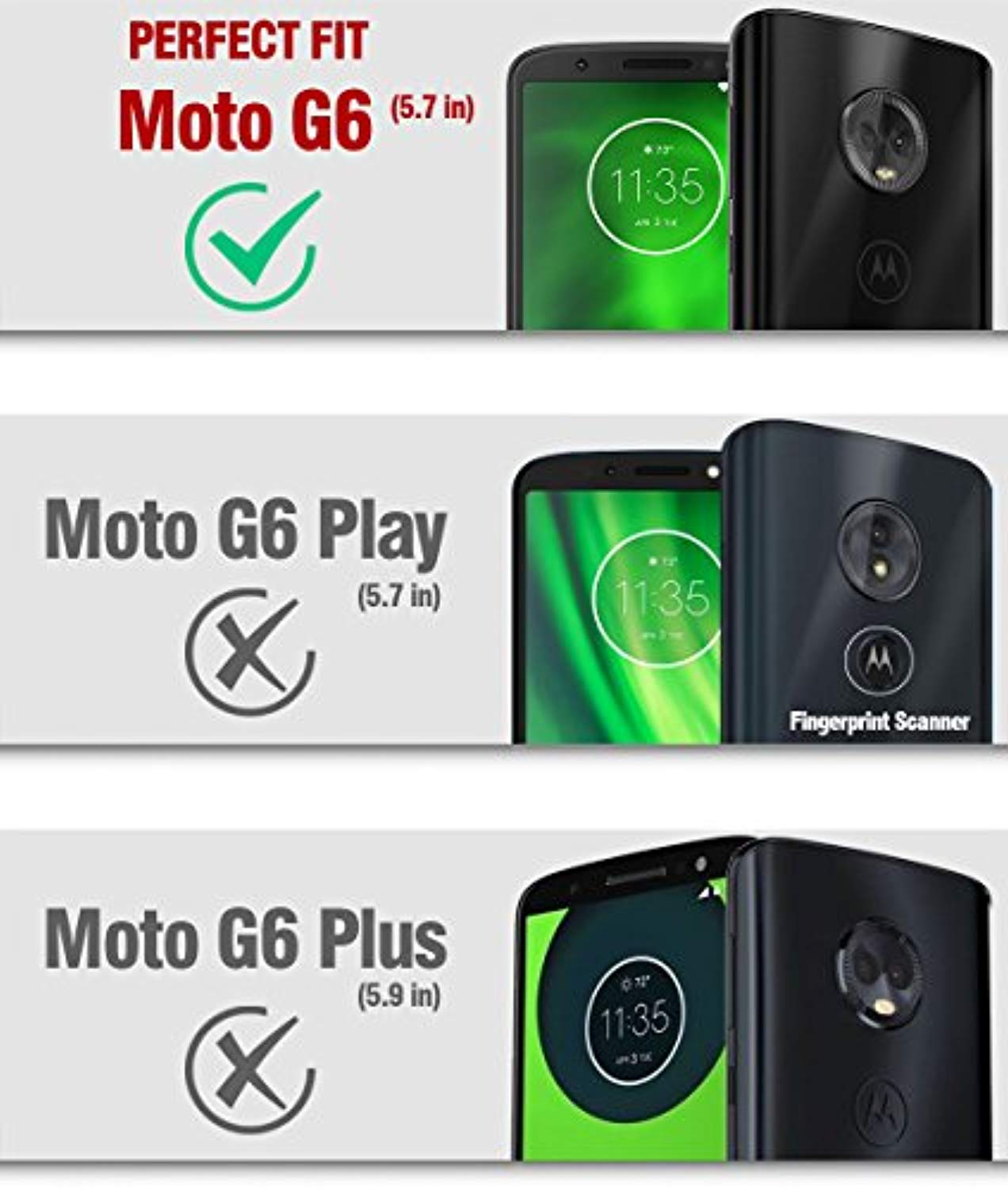 finest selection adab2 8f2fb Poetic Moto G6 Rugged Case, Revolution [360 Degree Protection] Full ...