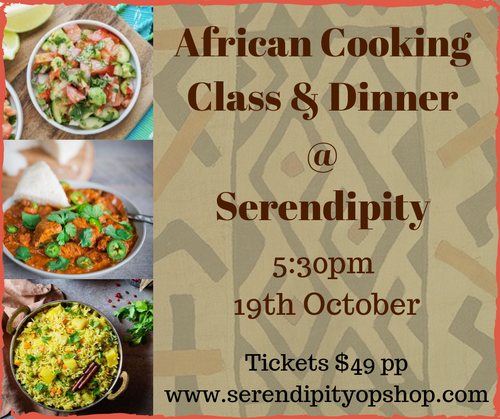 AFRICAN COOKING CLASS AND DINNER - 19TH OCTOBER