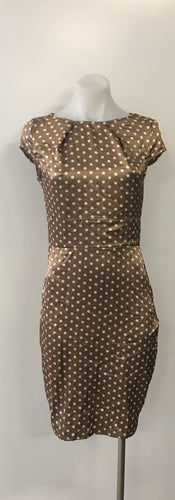 Gold with White Spots Dress - Designer Unknown