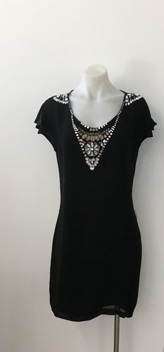 Black Beaded Dress - Kachel