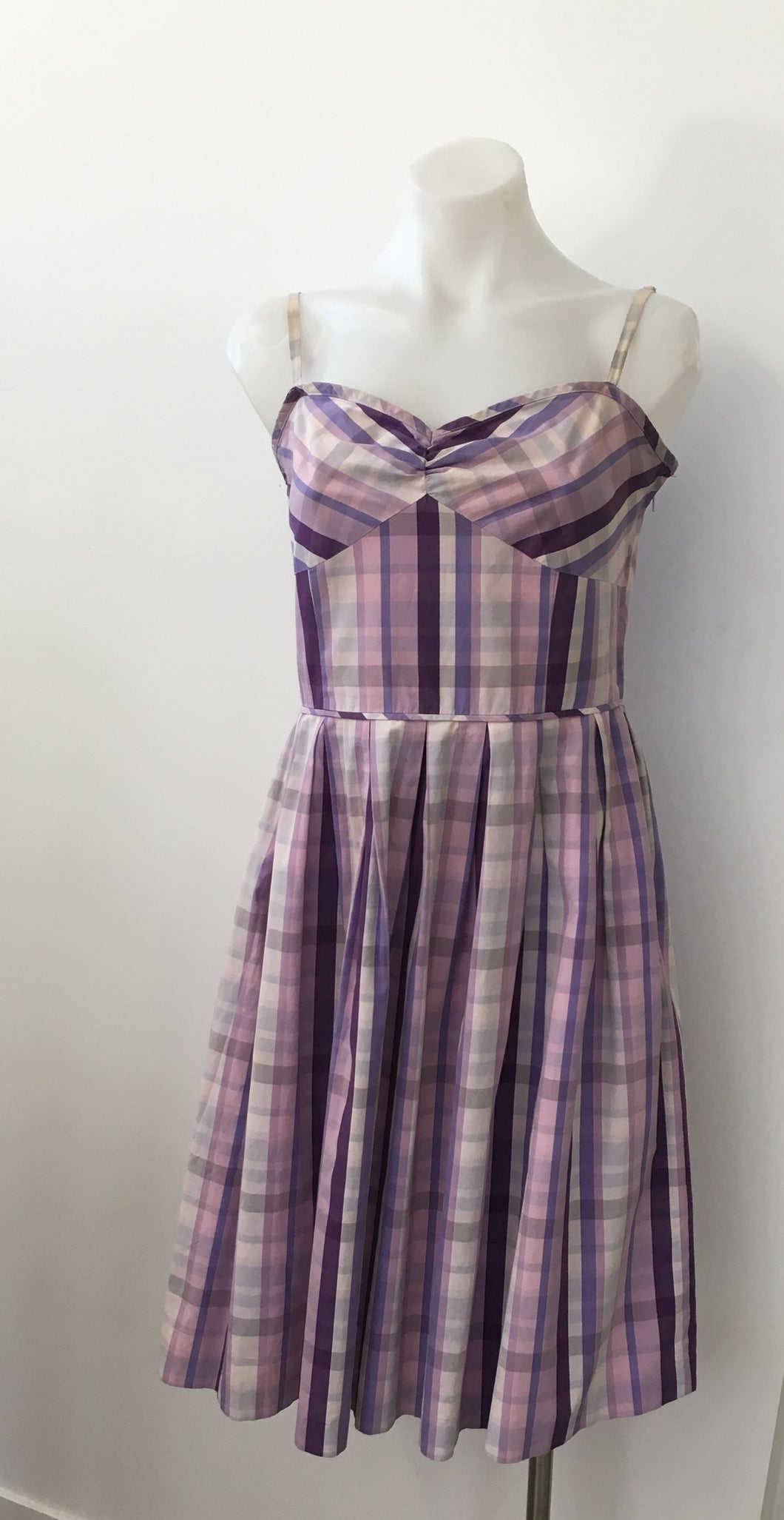 Purple Gingham Dress - Anne Taylor Loft