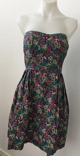 Strapless Floral Dress - Moda