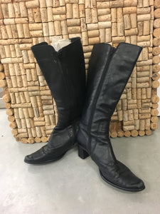 Black Genuine Leather Boots - Logical