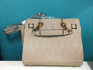 Cream Handbag with Extendable Strap - Designer Unknown