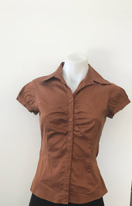 Brown Business Blouse - Cue
