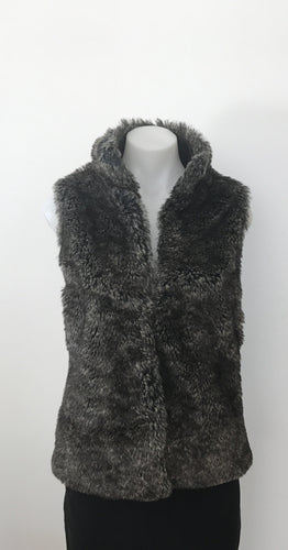 Faux Fur Sleeveless Jacket - All About Eve