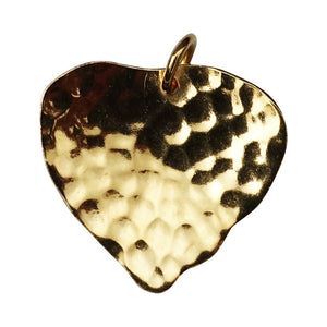 Hammered Heart Charm - Charms - Stoned & Waisted Fashion
