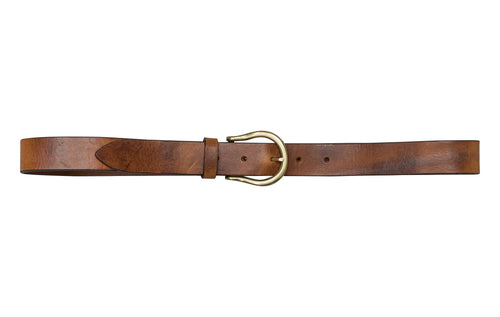 Horseshoe Buckle Belt - Premium Italian Collection Belts - Stoned & Waisted Fashion