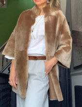 Load image into Gallery viewer, Ripley- reversible shearling jacket with mandarin collar