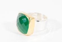 Load image into Gallery viewer, Anna Green Onyx Ring - Rings - Stoned & Waisted Fashion