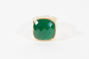 Anna Green Onyx Ring - Rings - Stoned & Waisted Fashion
