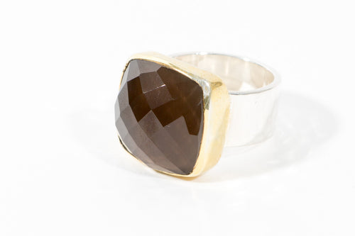 Anna Smokey Quartz Ring - Rings - Stoned & Waisted Fashion