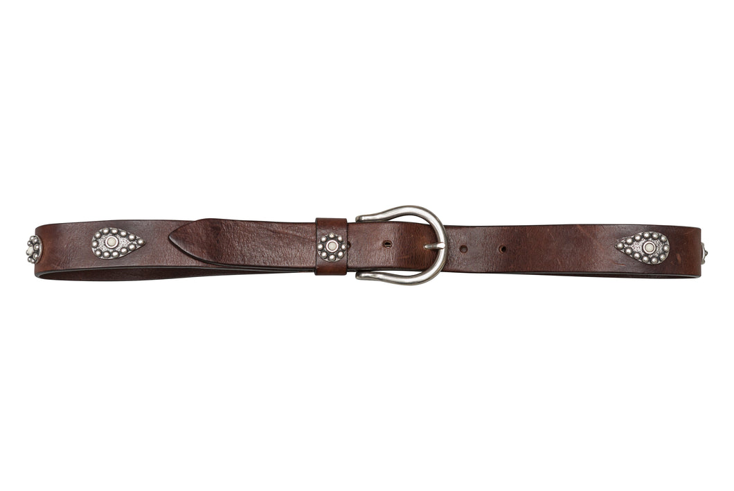 Flower Petal Belt - Premium Italian Collection Belts - Stoned & Waisted Fashion