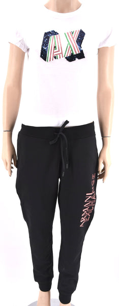 ARMANI EXCHANGE DONNA PANTALONE TUTA SPORTIVO CASUAL PRIMAVERILE 6ZYP76 NO CART