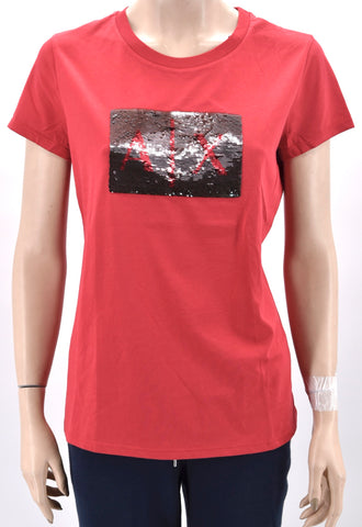 ARMANI EXCHANGE DONNA MAGLIA T-SHIRT REGULAR FIT GIROCOLLO CASUAL 8NYTDL YJG3Z