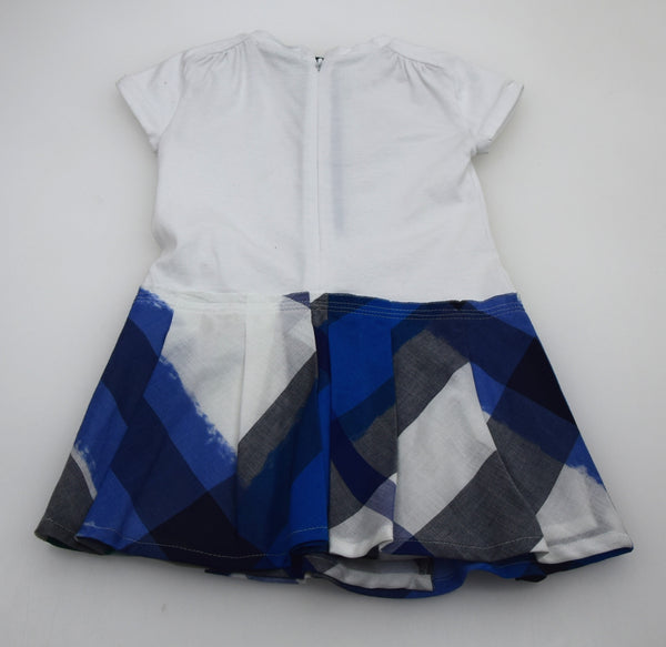 BURBERRY JUNIOR BAMBINA VESTITO ABITO CON GONNA SCOZZESE CASUAL ART. B0247485T