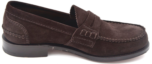 CHURCH'S UOMO SCARPA MOCASSINO CLASSICO BUSINESS FIT G CAMOSCIO PEMBREY SUEDE