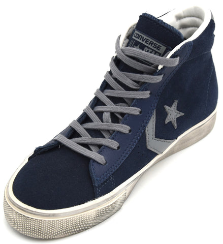 CONVERSE ALL STAR UOMO DONNA UNISEX SCARPA SNEAKER PRO LEATHER DISTRESSED MI