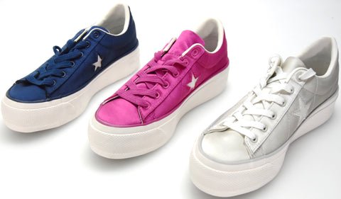 CONVERSE ALL STAR DONNA SCARPA SNEAKER CASUAL NYLON ART. ONE STAR PLATFORM OX