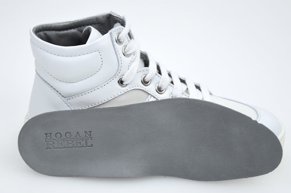 HOGAN REBEL BAMBINO JUNIOR SCARPA SNEAKER CASUAL ART. HXC141072831G1B001 BIANCO