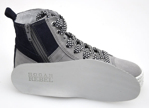 HOGAN REBEL R141 BAMBINO JUNIOR SCARPA SNEAKER CASUAL ART. HXC1410U770MU0062Q