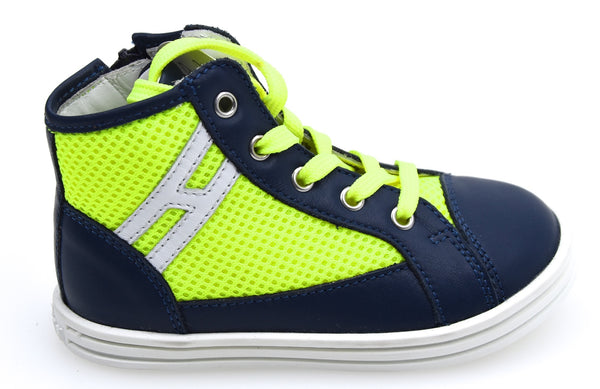 HOGAN REBEL R141 BAMBINO JUNIOR SCARPA SNEAKER CASUAL ART. HXT1410I390D5G0YZ0
