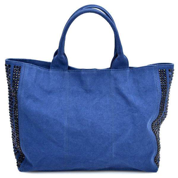 PINKO DONNA BORSA DA SPALLA GRANDE SHOPPING BAG IN CAVNVAS ART. 1P2007 Z1CQ