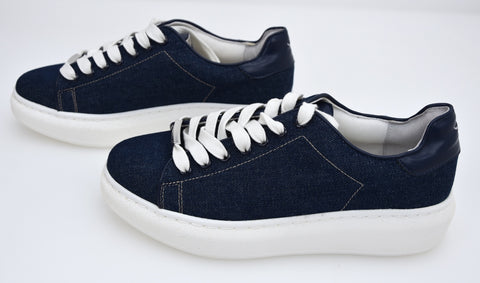 WINDSORSMITH DONNA SCARPA SNEAKER CASUAL TEMPO LIBERO CANVAS DENIM ART. HEDLEY