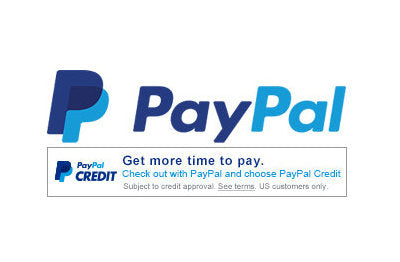 Image of the Paypal logo with message underneath about finance options